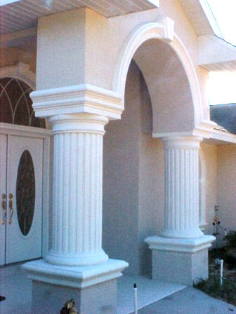 Stone stucco and plaster work in citrus county florida by for Stucco columns